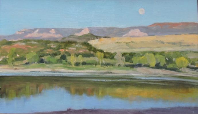 Moon in the Morning, 12 x 20, $720.