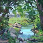Shade by the River, 12 x 16, $575.
