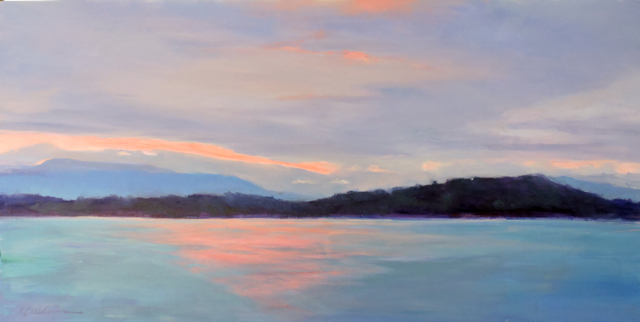 A Touch of Pink, 24 x 48
