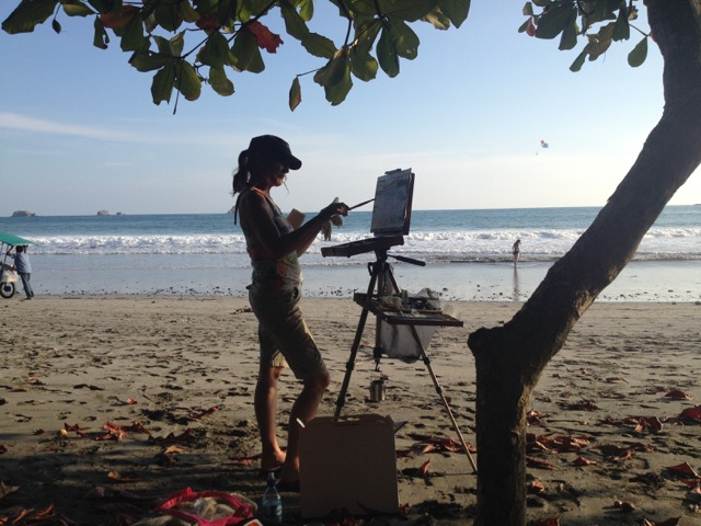 Painting at Manuel Antonio