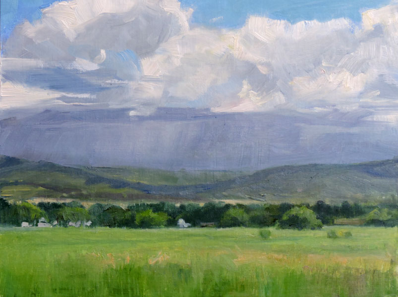 "Looking East, 11"" x 14"""