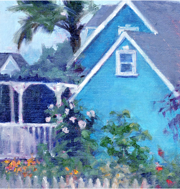 Turquoise Cottage, 8 x 10, plein air
