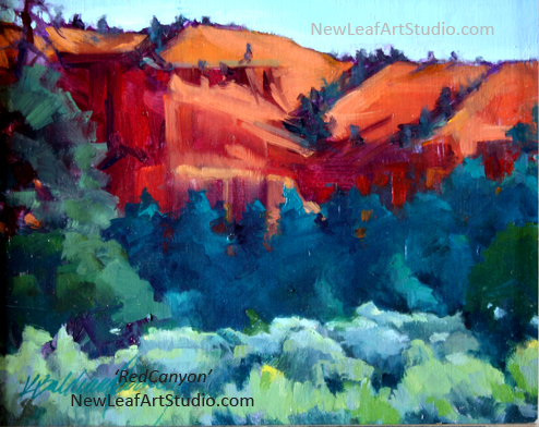 Red Canyon, 8 x 10, plein air