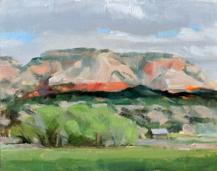 Sugar Knoll, 8 x 10, plein air