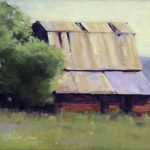 Sun Lit Barn, 12 x 16, plein air
