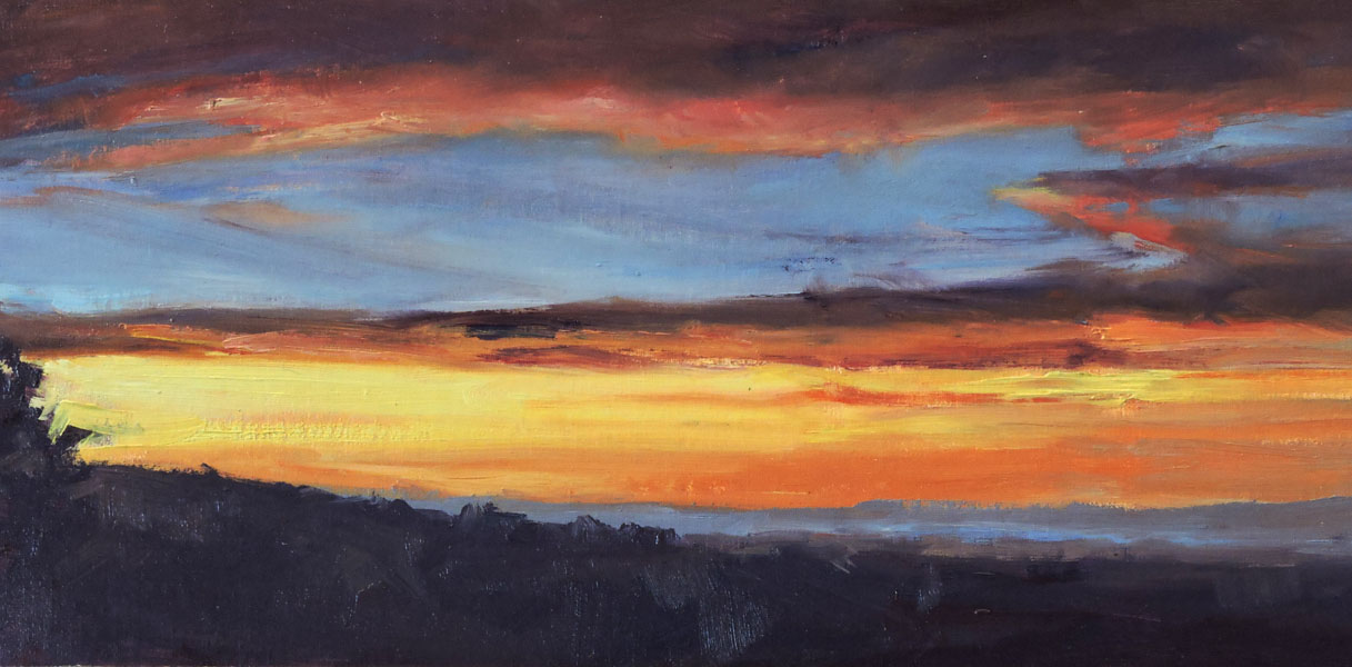Valley Sunset 12 x 20