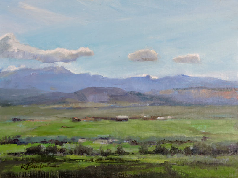Valley View, 11 x 14, plein air