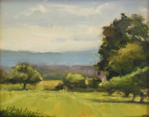 Distant Blue, 8 x 10, plein air, (currently at Evergreen Gallery)