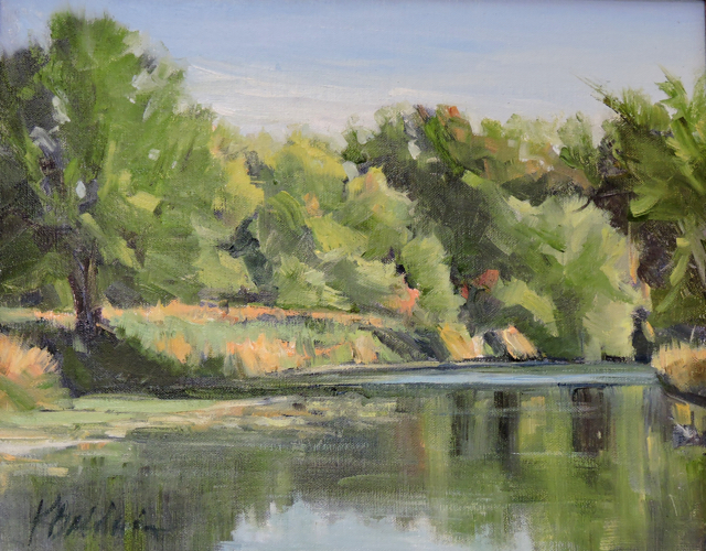Reflections, 11 x 14, plein air